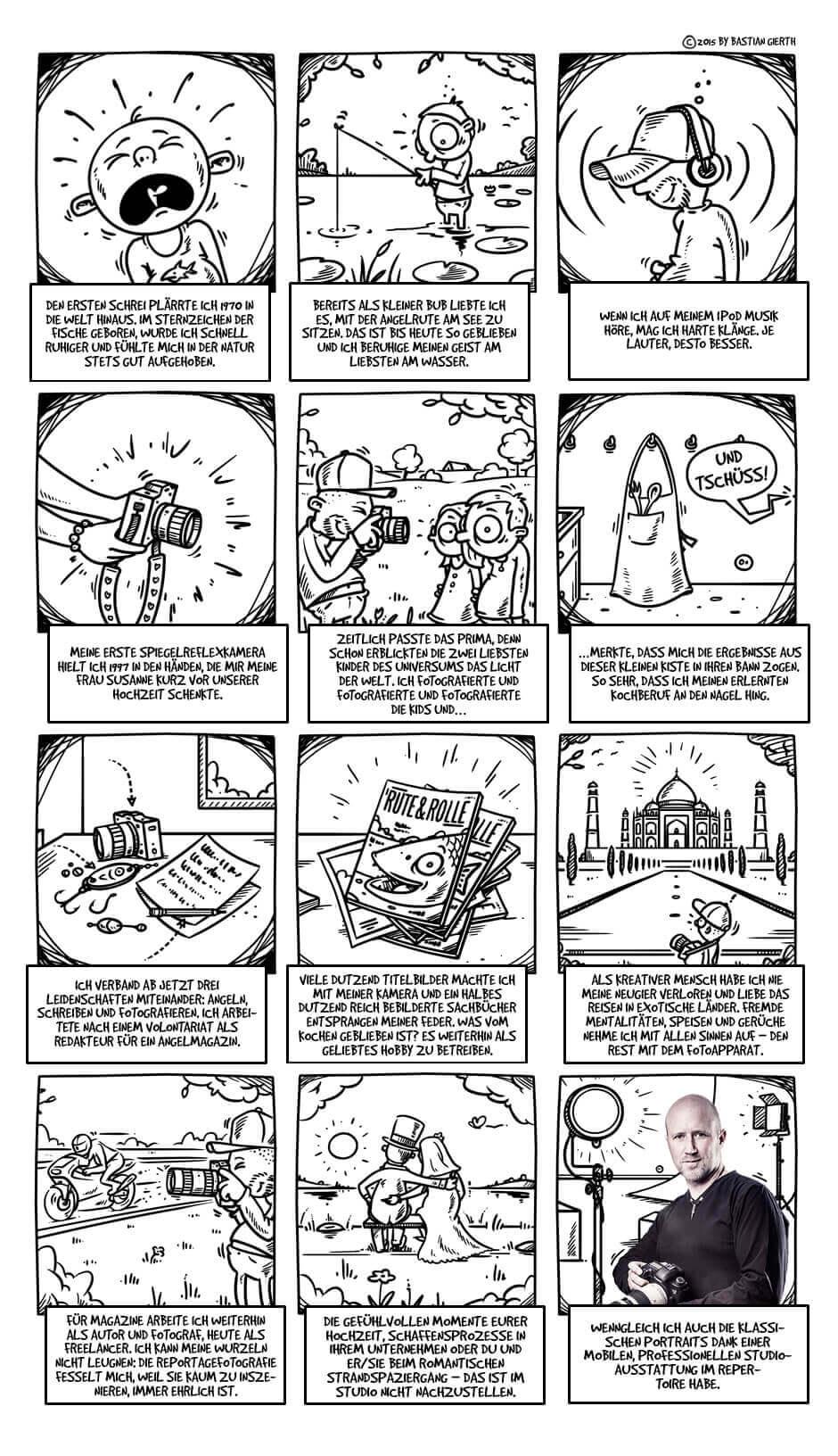 Florian Läufers Leben als Comic