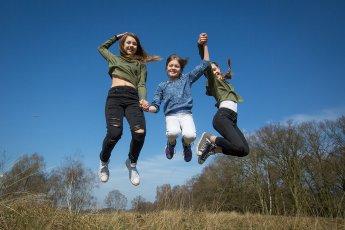 Kinder-Fotoshooting in den Boberger Dünen bei Hamburg