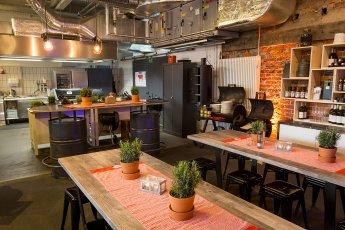 Perfekt für Küchen-Workshops: die Grillstation