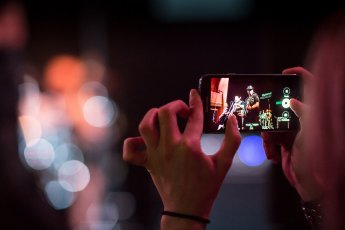 Handyfoto vom Auftritt im Kulthaus Rendsburg