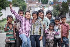 Glückliche indische Kinder
