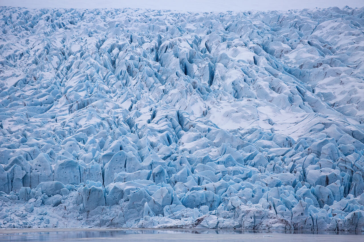 Die Abbruchkante des Gletschers Vatnajokull