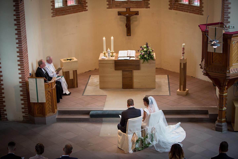 Trauung in der St Paulus Kirche in Buchholz