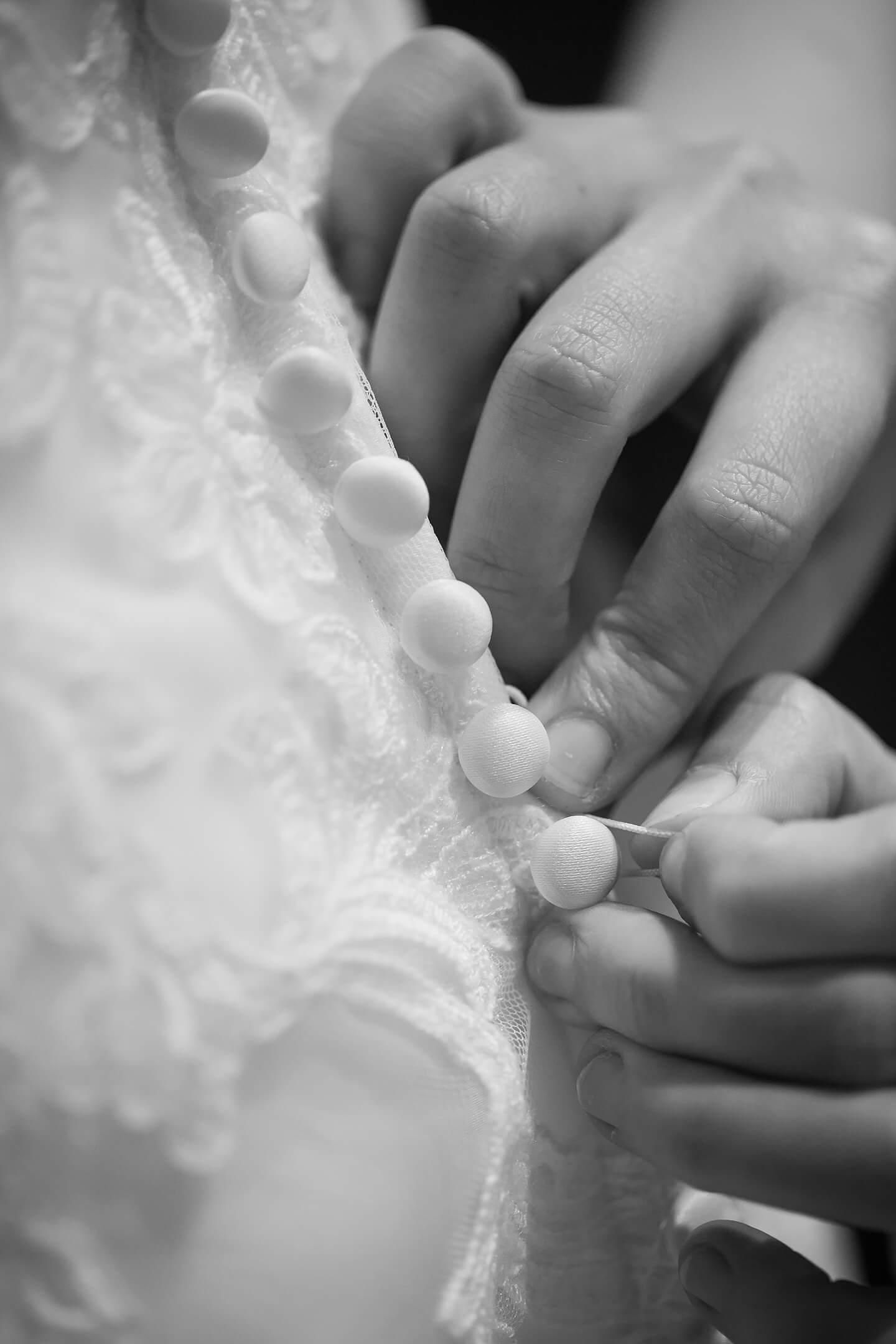 Detailaufnahme Hochzeitskleid