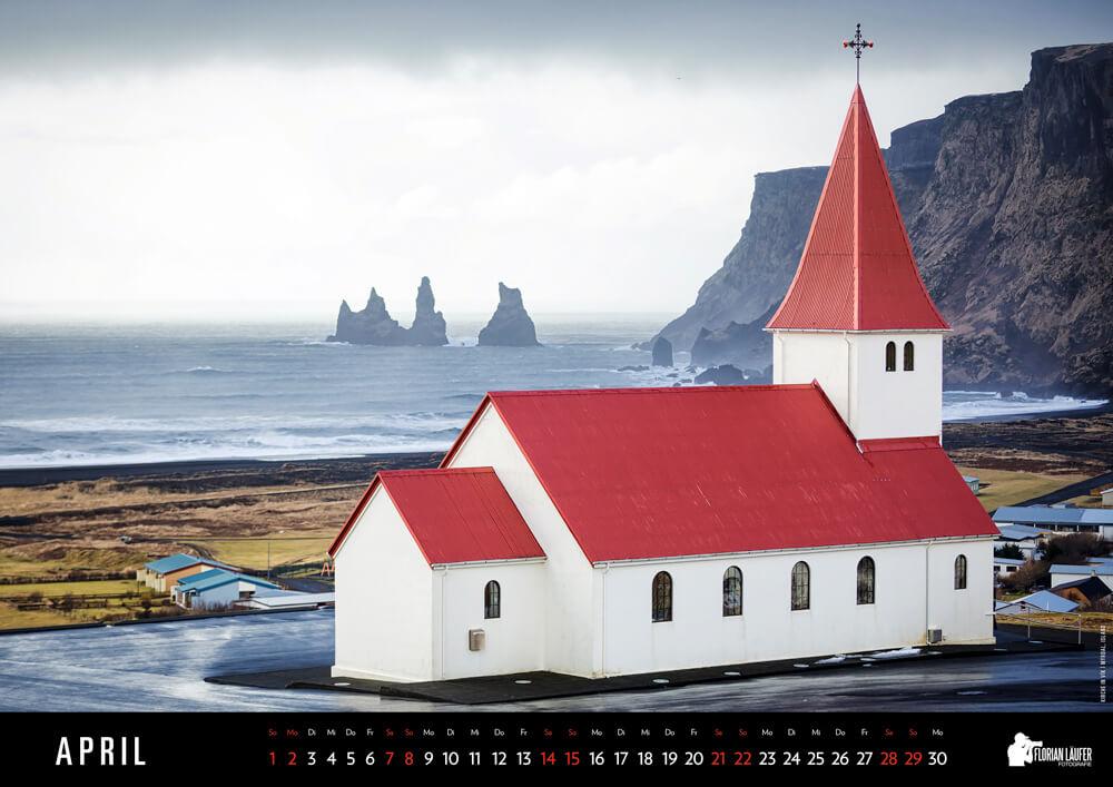 Kirche in Vík í Mýrdal, Island