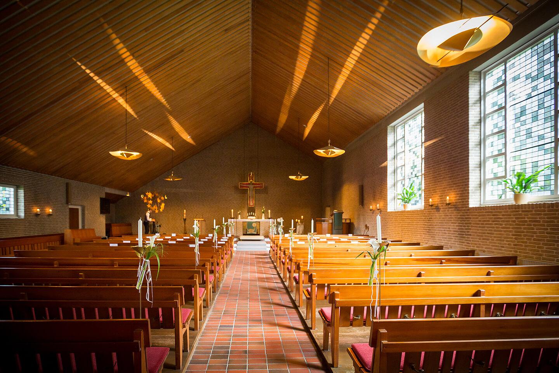 Kirche in Fredenbeck kurz vor der Hochzeit