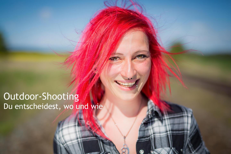 Portraitshooting mit rothaariger Frau