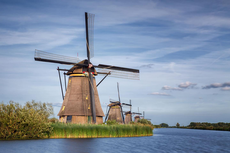 Unesco-Weltkulturerbe: die Windmühlen von Kinderdijk