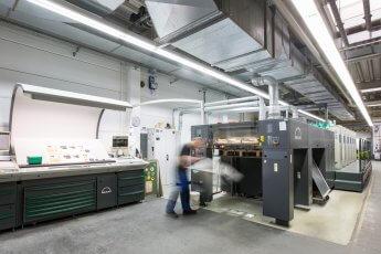 Industriefotografie in der Druckerei Möller