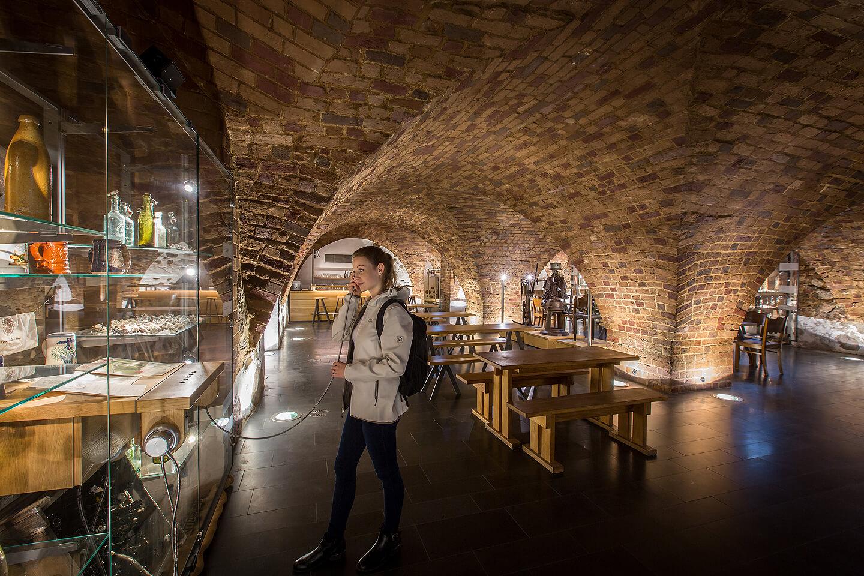 Kellergewölbe im Brauereimuseum