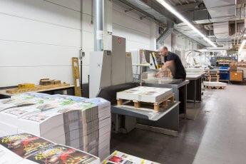 Industriefoto in der Druckerei Möller bei Berlin