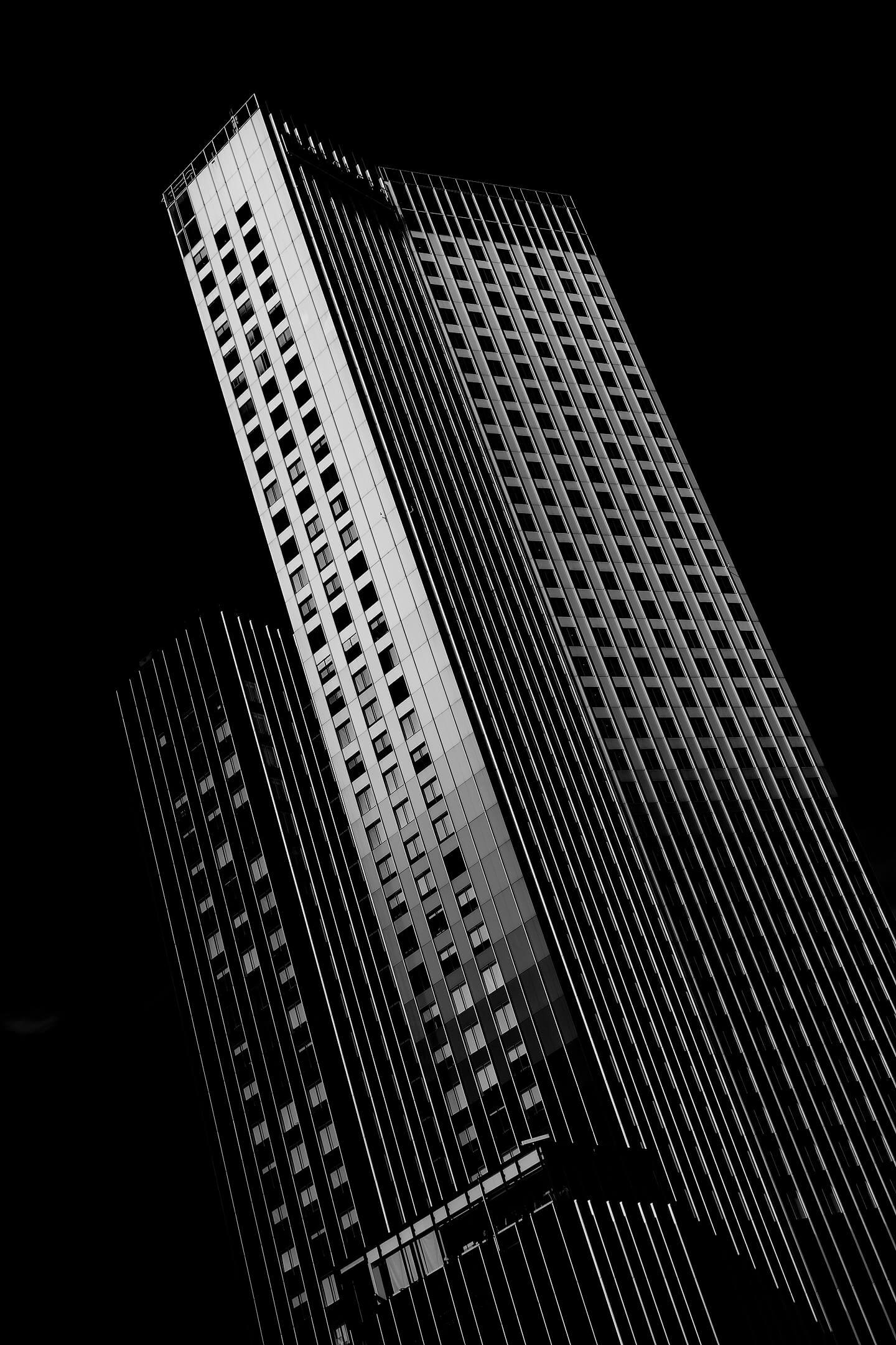 Abstrakte Architekturfotografie. Hier das Gebäude der RSA-Group, Rotterdam