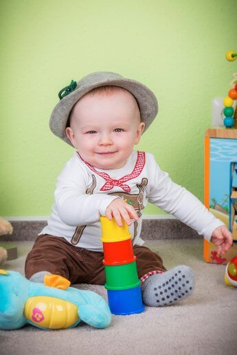 Babyfoto im Kinderzimmer