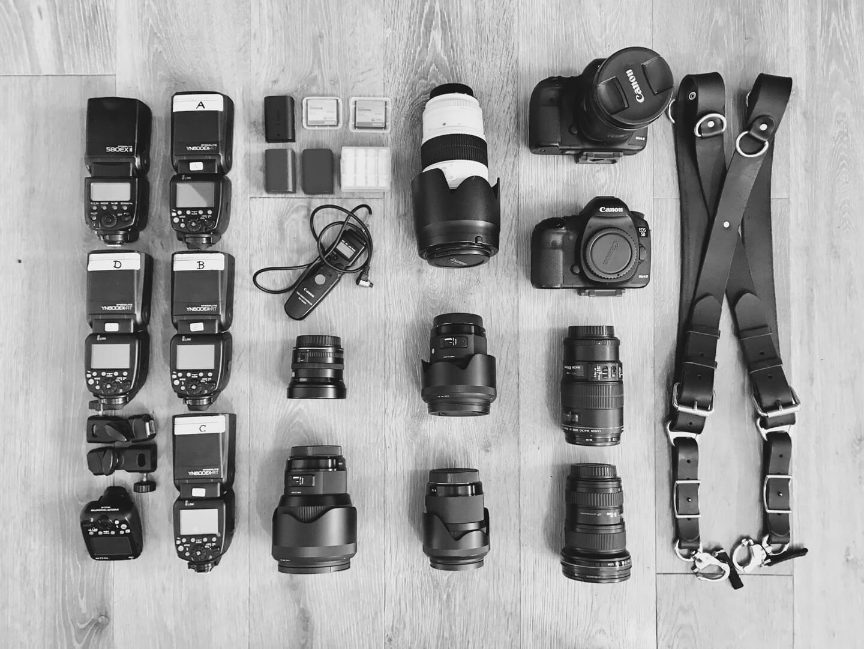 Equipment für den Hochzeitsfotograf