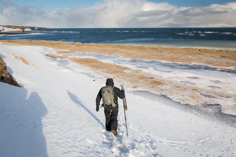 Island im Winter. Schnee und Kälte sind die natürlichen Begleiter