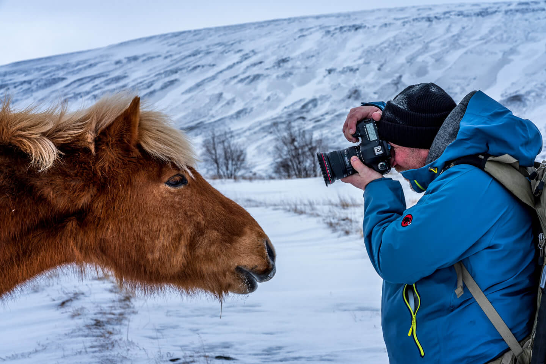 Ganz nah dran: Fotograf Florian Laeufer aus Hamburg fotografiert ein Islandpferd