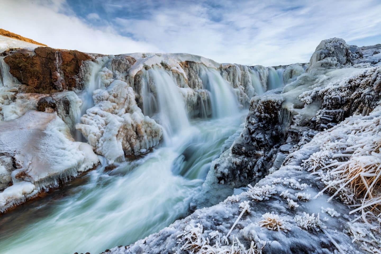 Langzeitbelichtung am Kolufossar im Winter