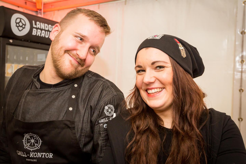 Freelancer Mitch Hein und Projektmanagerin Vanessa Politz repräsentierten u.a. das Grill-Kontor Hamburg