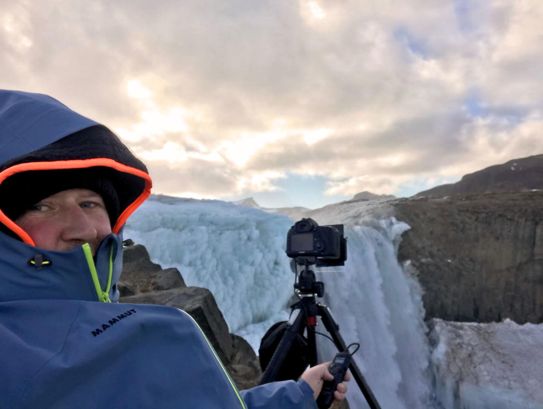 Selfie beim Fotografieren in Island