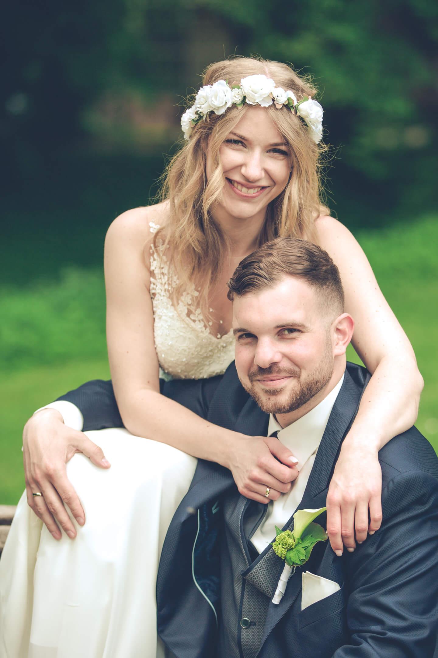 Hochzeitsfoto - im Schlosspark Ahrensburg aufgenommen