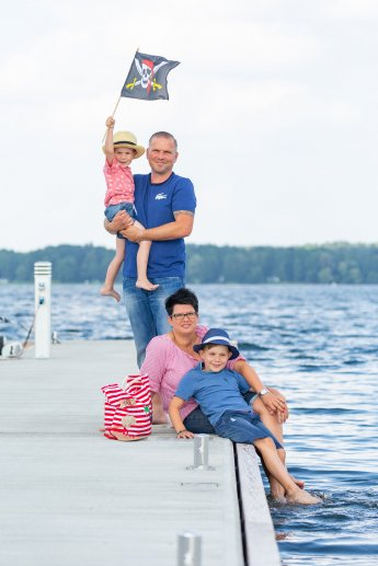 Fotoshooting mit Familie am See