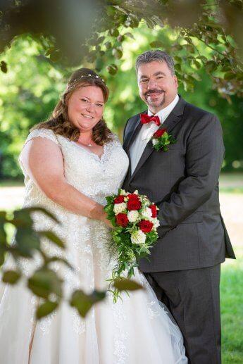 Brautpaar beim Standesamt Bergedorf