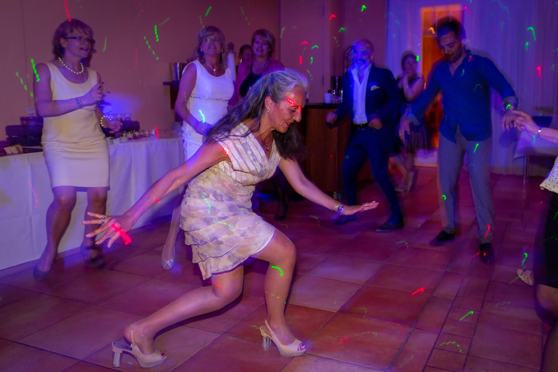 Taenzerin auf der Tanzfläche