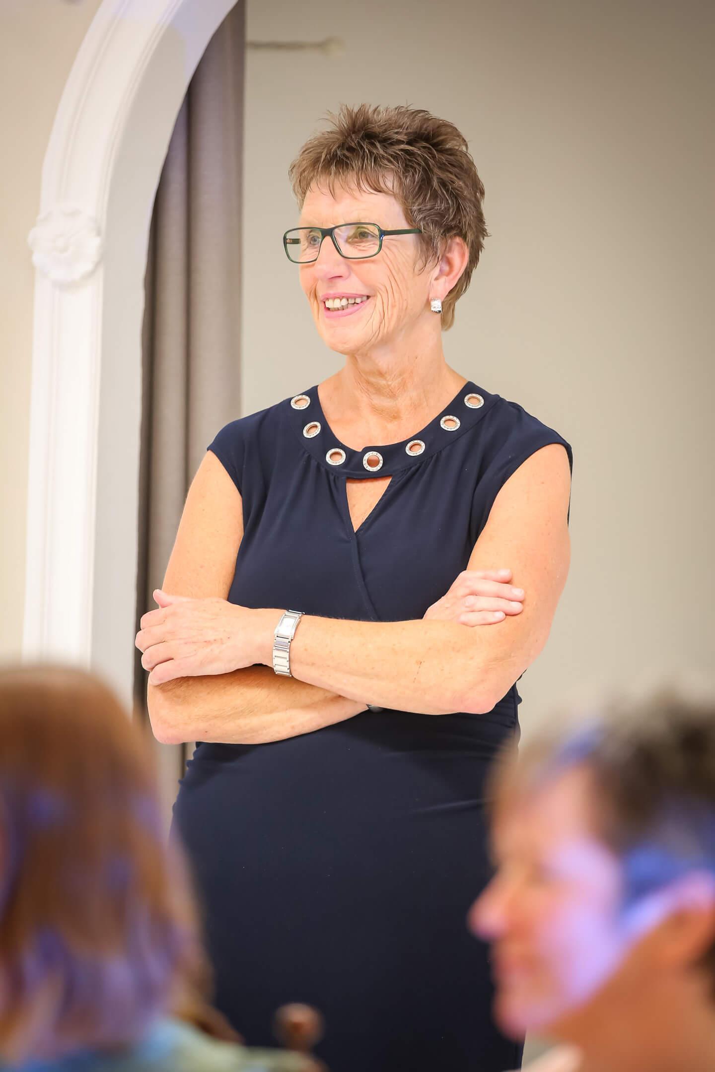 Geschäftsfuehrerin Kirsten Juergensen von Laue Festgarderobe