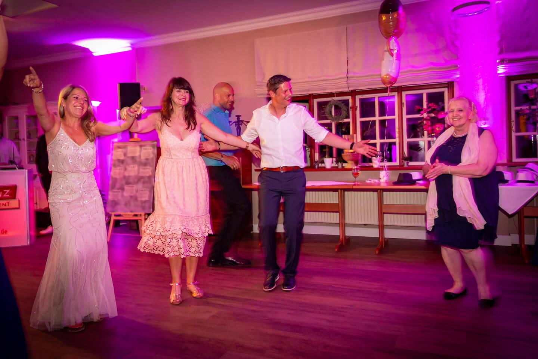 Dancefloor auf Hochzeitsfeier