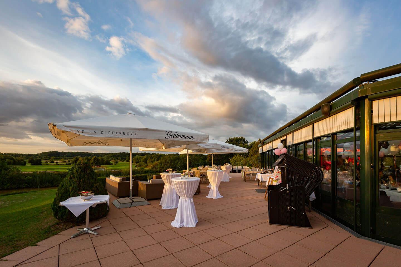 Abendlicher Blick vom Golf und Countryclub Brunstorf