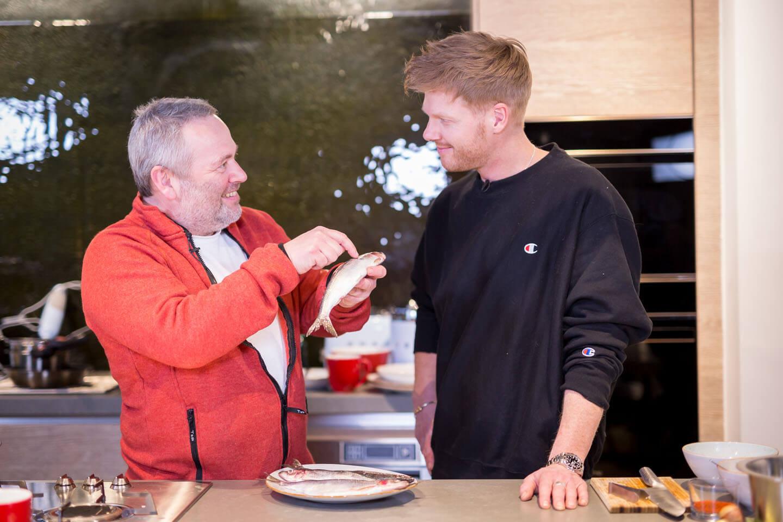 Kochprofi Nils Egtermeyer beim Filmdreh