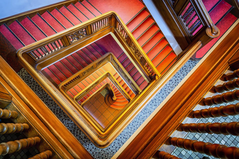Treppenhaus vom Kontorhaus Stubbenhuk