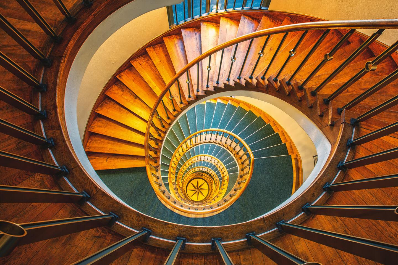 Treppenhaus im Bürogebäude in der Hoheluftchaussee in Hamburg