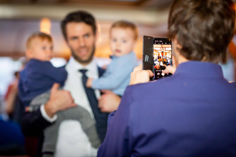 Erinnerungsfoto mit dem Handy