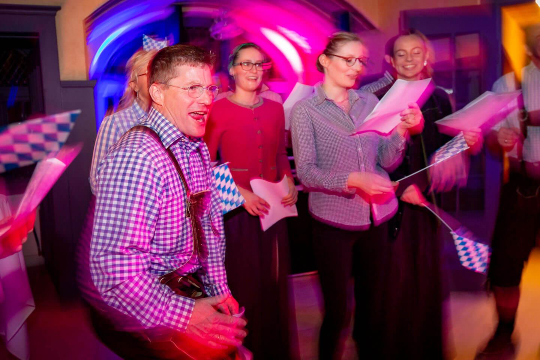 Vorführung bei Hochzeitsfeier auf Gut Bardenhagen