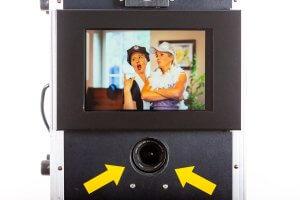 Display und Kamera der Fotobox Läufer