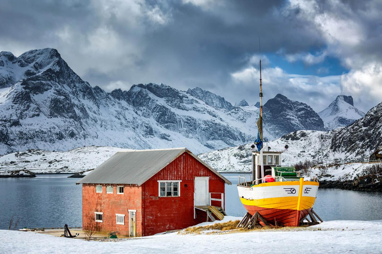 Fischerboot auf den Lofoten. Fotograf: Florian Läufer