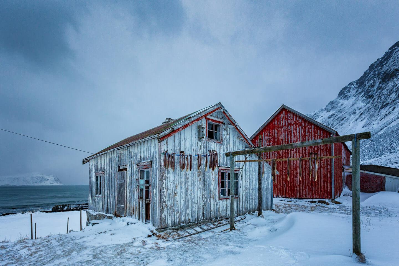 Einsame Fischerhütte auf den Lofoten