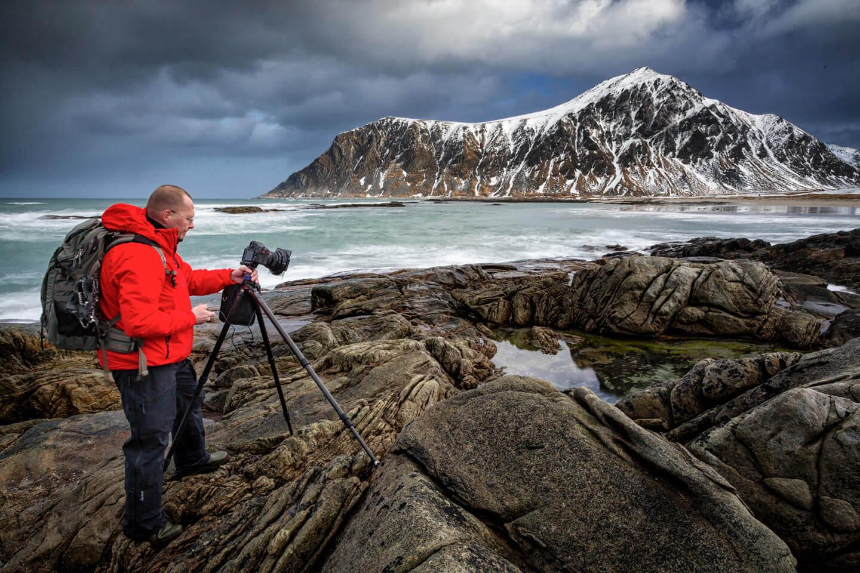 Lofoten fotografieren im Winter. Hier: Skagsanden bei Flakstad