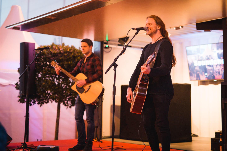 Live-Musik im Showcontainer auf der Gastronomie-Messe Internorga
