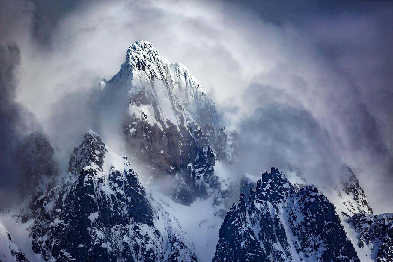 Bergsitzen auf den Lofoten