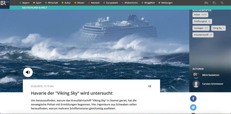 Havarie der Viking Sky im März 2019