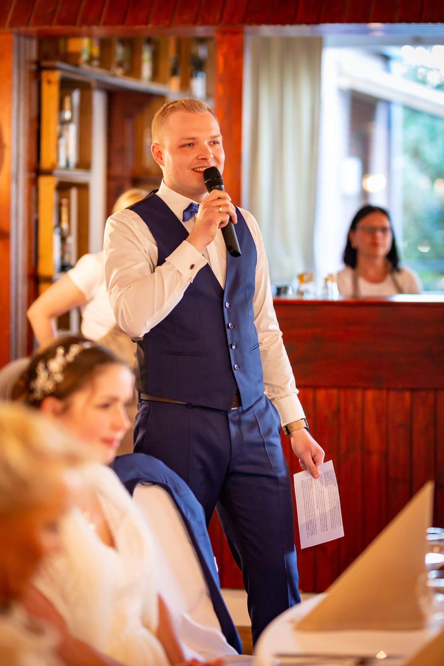 Ansprache des Bräutigams bei einer Hochzeit im Landhaus Westerhof