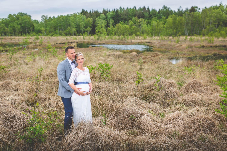 Hochzeitsfotos im Moor. Fotograf: Florian Läufer, Hamburg
