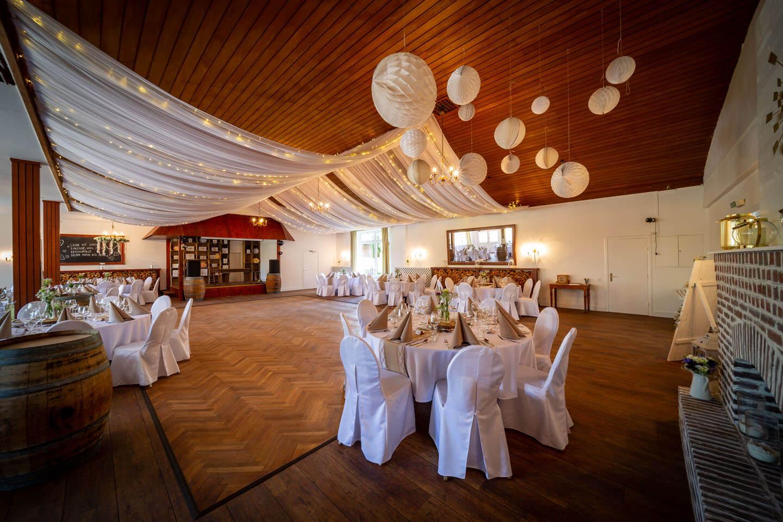 Saal der Hochzeitslocation Westerhof
