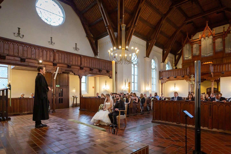 Trauung in der sankt Michaeliskirche in Kaltenkirchen