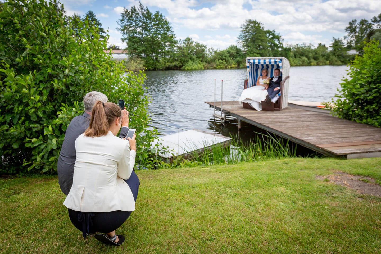 Handyfotos vom Brautpaar