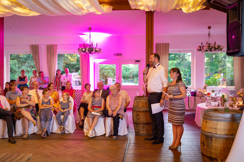 Präsentation bei einer Hochzeitsfeier