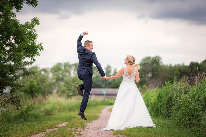 Hochzeitsfotos mit Witz (Foto: Florian Läufer, Hamburg)