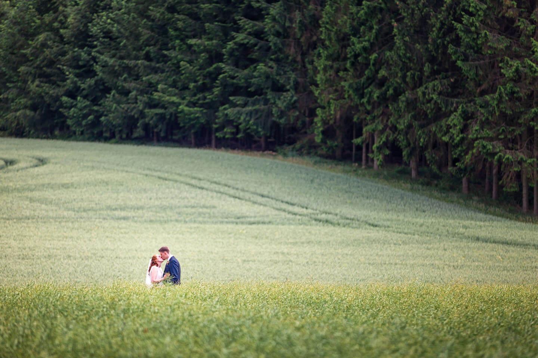 Hochzeitsfotos mit Weite